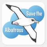 Save the Albatross (flight) Square Sticker
