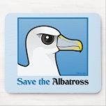 Save the Albatross (portrait) Mouse Mat