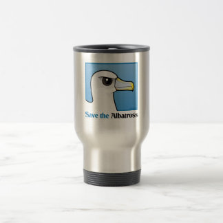 Save the Albatross (portrait) Stainless Steel Travel Mug