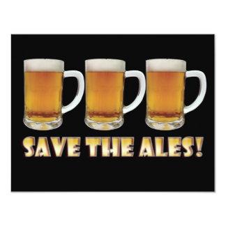 Save The Ales! 4.25x5.5 Paper Invitation Card