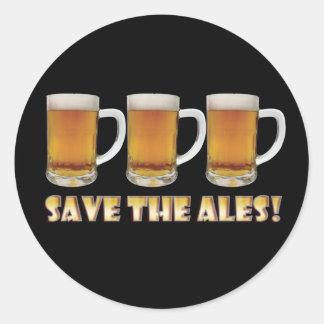 Save The Ales! Round Sticker