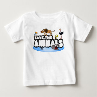 Save the Animals Baby Tee