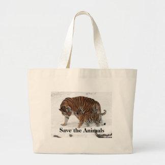 Save the Animals Jumbo Tote Natural Jumbo Tote Bag