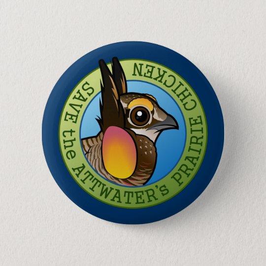 Save the Attwater's Prairie Chicken 6 Cm Round Badge