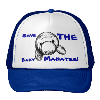 Save The Baby Manatee! Cap