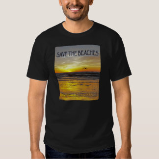 Save the Beaches Sunrise Stop Climate Change Tee Shirt