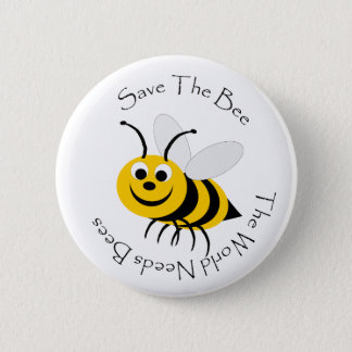 Save The Bee Design 6 Cm Round Badge