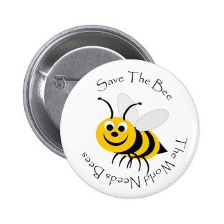 Save The Bee Design 6 Cm Round Badge