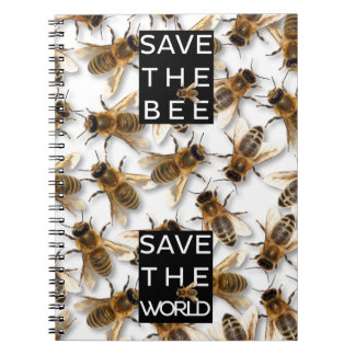 Save the Bee! Save the World! Boxed Bee Spiral Notebook
