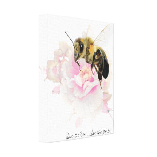 Save the Bee! Save the World! Pretty Bee Canvas Print