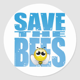 Save the Bees Classic Round Sticker