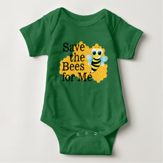 Save the Bees for Me Baby Bodysuit
