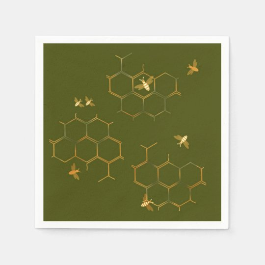 Save the Bees Honeycomb Paper Napkins