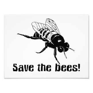 Save the Bees Photo Print