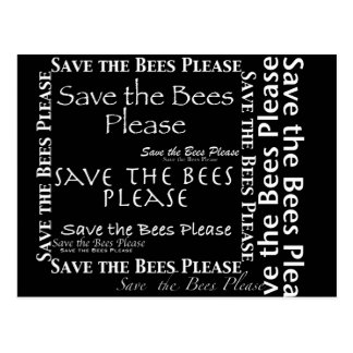 Save the Bees Please Collage Post Card