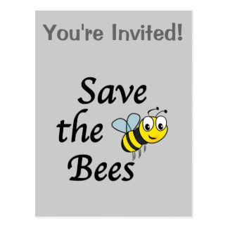 Save the Bees Post Card