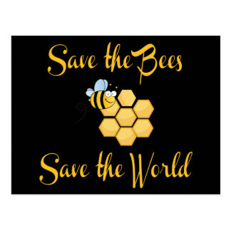 Save the Bees Save the World Postcards