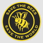 Save The Bees Save The World Sticker