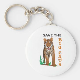 SAVE THE BIG CATS KEY CHAIN