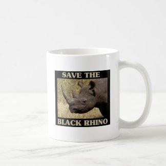 Save the Black Rhino Basic White Mug
