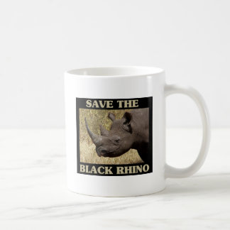 Save the Black Rhino Coffee Mug