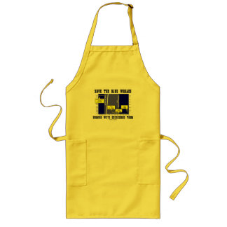 Save The Blue Whales Because We've Endangered Them Long Apron