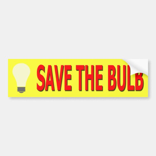 Save the Bulb Bumper Sticker (yellow)