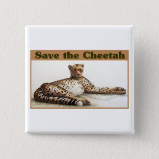 Save the Cheetah 15 Cm Square Badge