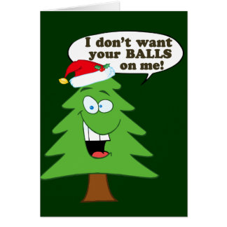 Save The Christmas Trees Greeting Cards