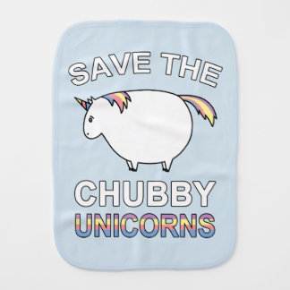 Save The Chubby Unicorns Burp Cloths