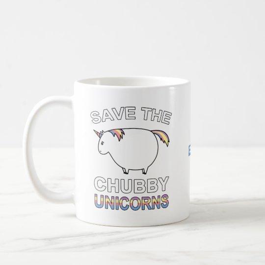 Save The Chubby Unicorns Coffee Mug