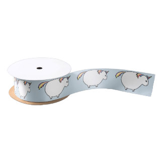 Save The Chubby Unicorns Satin Ribbon