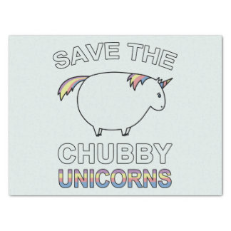 Save The Chubby Unicorns Tissue Paper
