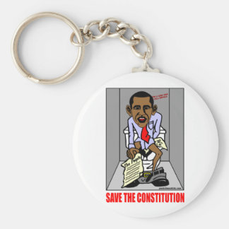SAVE THE CONSTITUTION BASIC ROUND BUTTON KEY RING