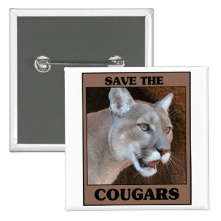 Save the Cougar 15 Cm Square Badge
