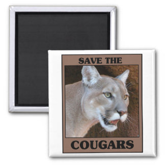Save the Cougar Square Magnet