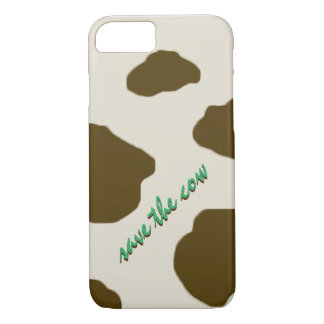 SAVE THE COW brown iPhone 7 Case