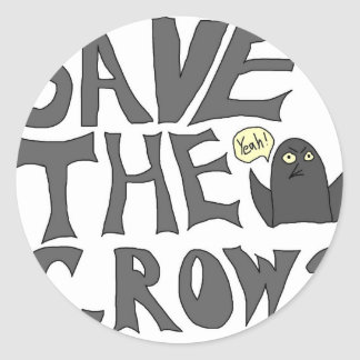 Save the Crows Classic Round Sticker