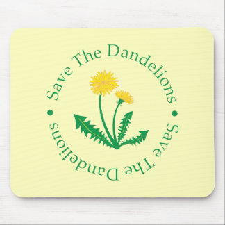 Save The Dandelions Mouse Mat