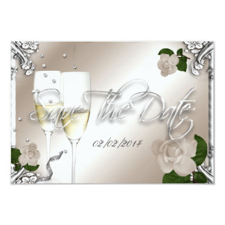 Save The Date 25th Anniversary Wedding 9 Cm X 13 Cm Invitation Card
