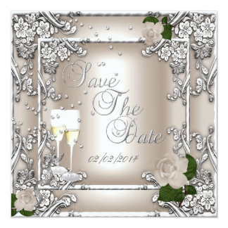 Save The Date 25th Anniversary Wedding Card