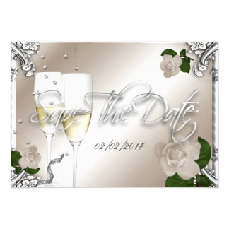 Save The Date 25th Anniversary Wedding Custom Announcements