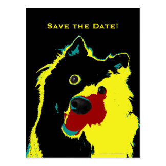 Save the Date 40th Birthday Happy Dog Announcement Postcard