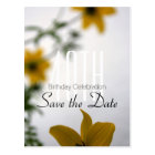 Save the Date 40th Birthday Spring Flowers Postcard