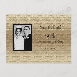 Save the Date 50th Anniversary Photo Announcement