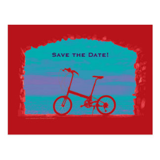 Save the Date 50th Birthday Party Postcard Bicycle