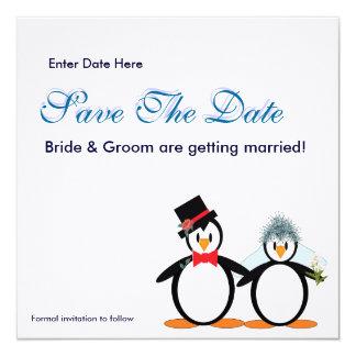 "Save the Date 5.25"" Square Invitation Card"