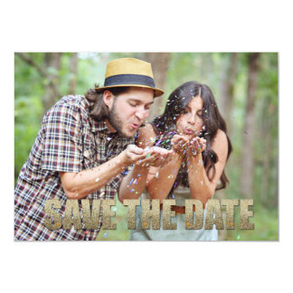 Save the Date 5x7 Post Card look 13 Cm X 18 Cm Invitation Card