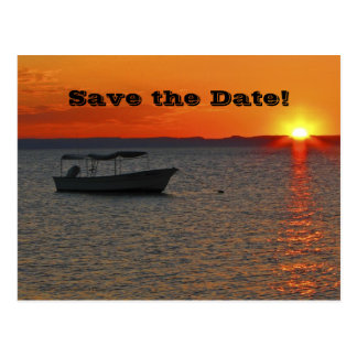 Save the Date 70th Birthday Party, Fishing Boat Postcard