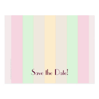 Save the Date 75th Birthday Party, Pastel Stripes Postcard